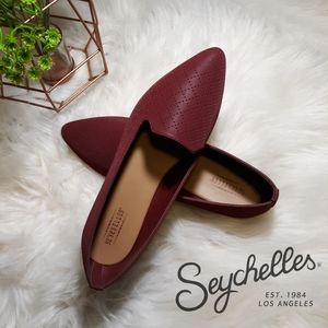 NEW Seychelles Cardinal Red Pointed Toe Flats Sz 7